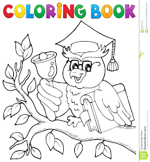 Coloring Book Owl Teacher Theme Vector Illustration Enchanted Forest Colouring Creative Haven Owls Pdf Full