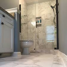 superb floor tile design with glass shower doors for small