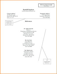 References Sheet Format Resume Reference List Template Sample Page F Job Fresh