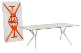 bureau kartell spoon foldable table 200 x 90 cm black black by kartell