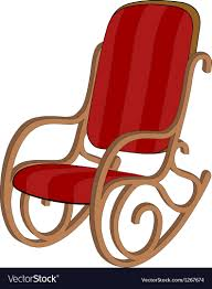 100 Unique Wooden Rocking Chair Red Wooden Rocking Chair Vector Image On VectorStock