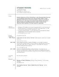 Download Resume Templates Word My First Job Objective Examples Free Template