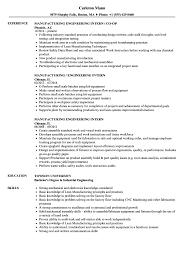 Download Manufacturing Engineering Intern Resume Sample As Image File