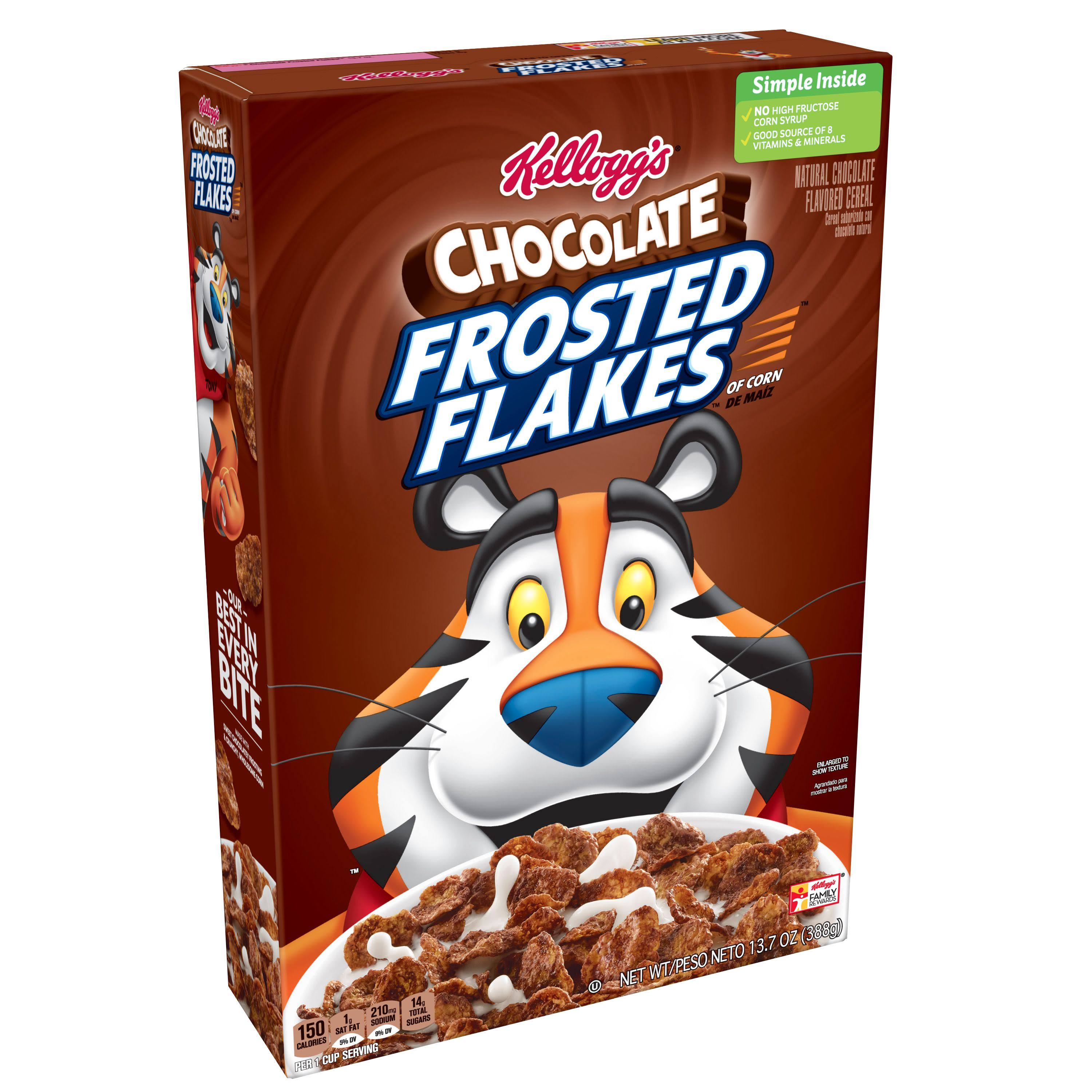 Kellogg's Breakfast Cereal - Chocolate Frosted Flakes, Low Fat, 13.7oz