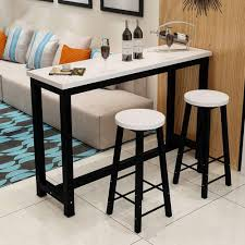 US $140.99 |3 Piece Pub Table Set, Counter Height Dining Table Set With 2  Bar Stools For Kitchen Nook, Dining Room, Living Room, Small Space-in Bar  ...