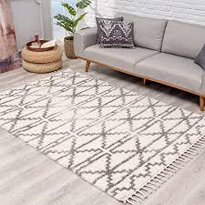 teppich hochflor wohnzimmer ethno skandi stil 120x160 cm