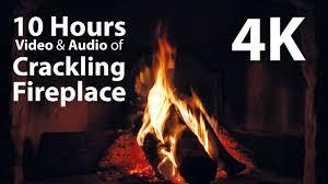 4K UHD 10 hours Fireplace & Crackling Audio relaxing warm