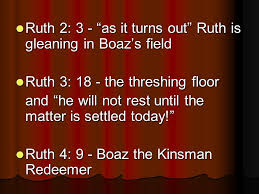 Threshing Floor Bible Church by Ruth Less The Story Of The Kinsman Redeemer Review The