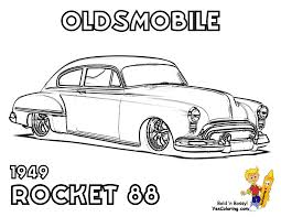 Fancy Muscle Car Coloring Pages 68 For Books With