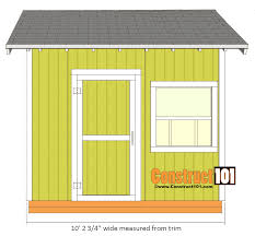 10x10 Shed Plans Blueprints by Shed Plans 10x10 Gable Shed Construct101