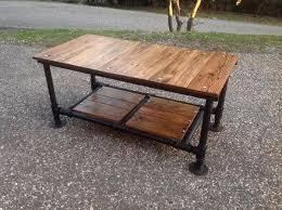 Awesome Standing Pipe Desk DIY Pallet Coffee Table With Base 101 Pallets