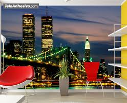 world trade center loch in der wand wohnzimmer deko 150