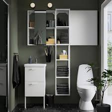 enhet tvällen badezimmer set 16 tlg weiß pilkån