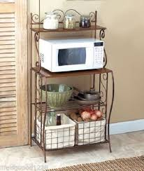 Kitchen Bakers Rack Storage Shelves Microwave Cart Stand Shelf