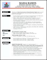Teacher Cv Template New Resume Elementary Examples Doc Primary
