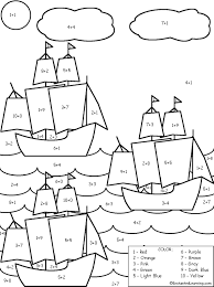 Christopher Columbus Coloring Page Day Ships Pages Redcabworcester Picture