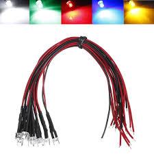 excellent quality 5pcs dc12v 20cm 5mm pre wired led l light