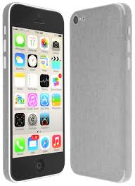 Skinomi TechSkin Apple iPhone 5C Brushed Aluminum Skin Protector