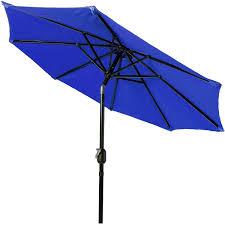 9 Ft Patio Market Umbrella by Pure Garden 9 U0027 Aluminum Patio Umbrella With Auto Crank Walmart Com
