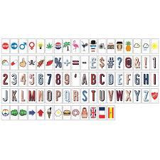 MonkeyMcCoy Cinematic A4 Lightbox Letter Pack Letters Symbols