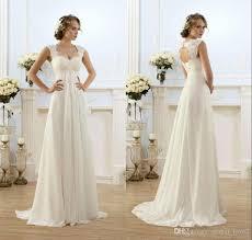 Cap Sleeve Bridesmaid Dresses Floor Length by Romantic Beach Wedding Dresses Chiffon Floor Length Keyhole