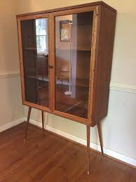 Mid Century Glass Front Display Cabinet By Broyhill Sculptra