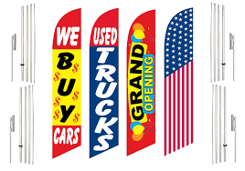 100 We Buy Trucks 4 Swooper Flags With 4 Pole Kits Cars Used Grand