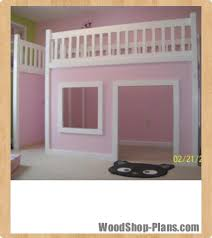 playhouse loft bed woodworking plans woodshop plans