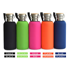 1000mL BPA Free Stainless Steel Water Bottle Bamboo Cap Sports Flask Tumbler With Neoprene Cover For Yoga Travel Hiking Outdoor In Bottles From Home