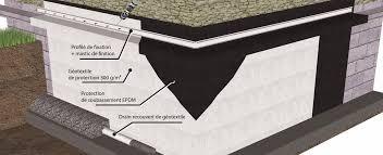 etancheite fondation avec protection de soubassement epdm flexirub
