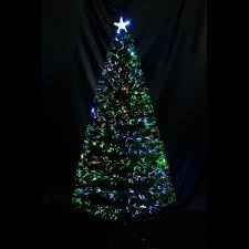 Fiber Optic Led Christmas Tree 7ft by 6ft Christmas Tree Scattered Light Artificial Fiber Optic Pre Lit