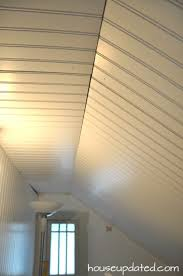 Hanging Drywall On Ceiling by Diy How To Install Beadboard On Walls And Ceilings House Updated
