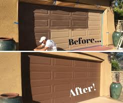 Cleaning and Restoring Oxidized Paint on a Garage Door