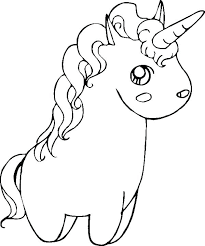 Unicorns Coloring Pages Unicorn Printable Baby Cute