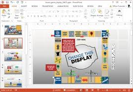 Board Game Template For Powerpoint Presentations