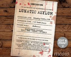 Bakery Story Halloween 2012 Download by Lunatic Asylum Halloween Invitation Party Mental Hospital