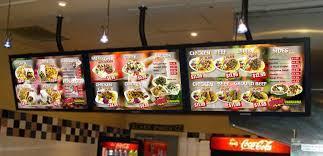 cuisine tv menut digital restaurant menu signs grip the edge
