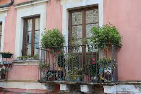 A Cute Little Balcony In The Streets Of Taormina Sicily July 24 2015 By Yannick Verhasselt