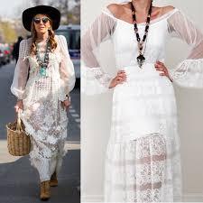lace tunic dress white lace dress bell bottom long