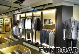 Shopping Mall High End Clothing Retail Display Wall Cabinets