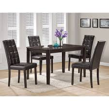 Monarch Specialties Cappuccino Rectangle Dining Table Set