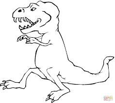 Coloriage Tyrannosaure Rex Imprimer Coquet T Rex Dinosaure R De Jeux