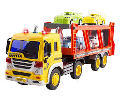 100 Toy Car Carrier Truck Friction Powered Transport Rier For Boys And GirlsLights And Sounds Ramp Includes 4 Plastic S Batter Buy