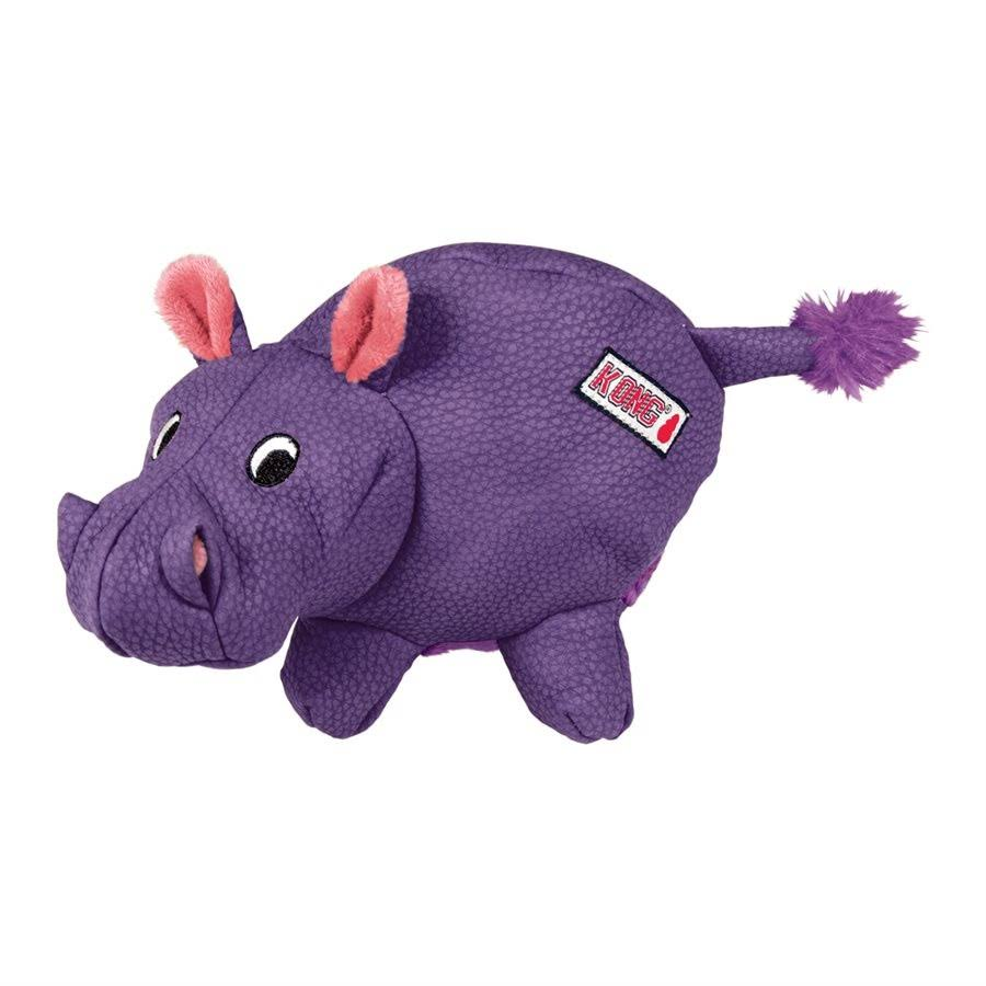 Kong Phatz Hippo Dog Plush Toy - Extra Small