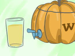 Preserve Carved Pumpkin Lemon Juice by How To Make A Pumpkin Drink Dispenser With Pictures Wikihow