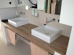 badezimmer tisch edelholz