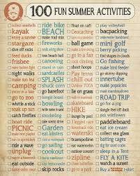 100 Fun Summer Activities