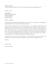 Cover Letter Examples For Environmental Jobs Cover Letter Advice