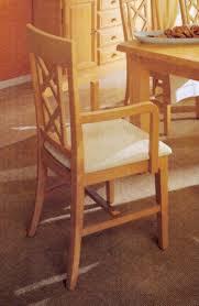 esszimmer stuhl mit armlehnen und festpolsterkissen chalet