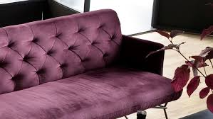 bank sixty polsterbank esszimmerbank stoff velour purple